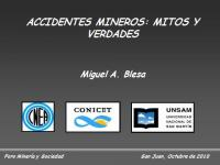Accidentes mineros: mitos y verdades